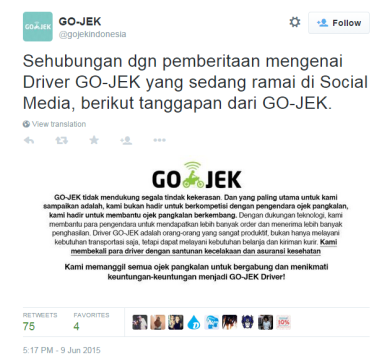 gojek disclaimer