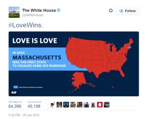 The White House Massachusetts LoveWins