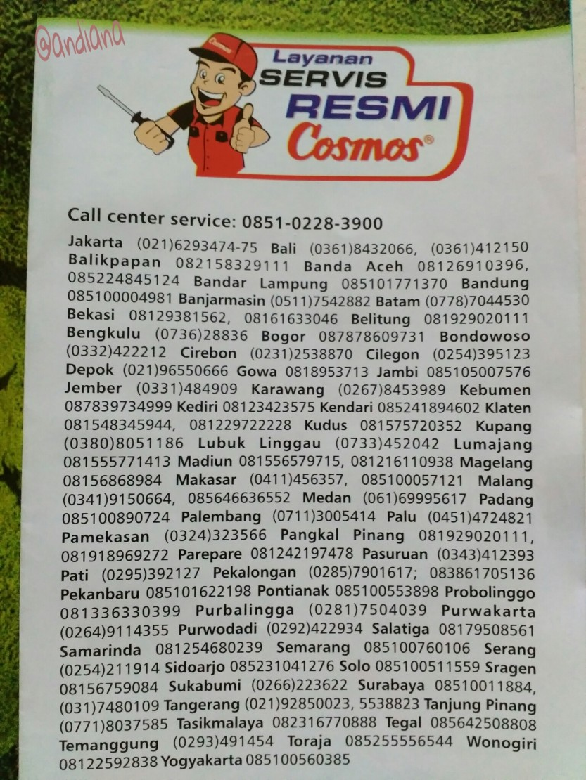 Hotline Cosmos Indonesia